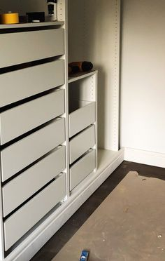 IKEA PAX hack: Hands down the most stunning walk-in closet Jaw-dropping transformation of IKEA PAX into a walk-in closet Walk In Closet Ikea, Ikea Closet Hack, Closet Hacks, Closet Organization, Closet Ideas, Organizing, Ikea Bedroom, Closet Bedroom, Master Closet