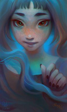Anya by Ni-nig > striking portrait art http://www.deviantart.com/art/Anya-549287279?utm_content=buffer6f712&utm_medium=social&utm_source=pinterest.com&utm_campaign=buffer #illustration #portraitart
