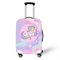 Pink Unicorn Luggage Protective Covers One of the toughest things to do while packing for a trip is fitting everything you want to bring with you into your luggage. Unicorn Bedroom Decor, Unicorn Rooms, Unicorn Gifts, Unicorn Bedroom Accessories, Cute Luggage, Kids Luggage, Cute Suitcases, Cute Mini Backpacks, Cool Kids Bedrooms