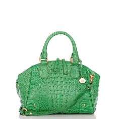 kelly green-hue satchel