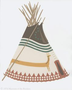 Deer Tipi of Mary and John Mountain Chief, Indian Peoples Digital Image Database Object Description