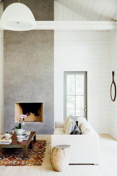 like rendered fireplace wall - would like a darker colour similar to the other picture