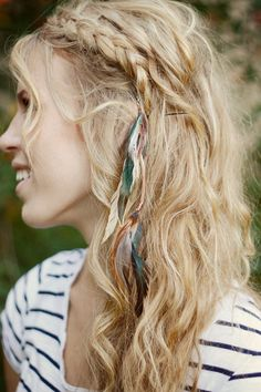 Long Hair Feathers Hair Extension Clips