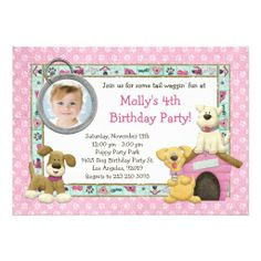 ==>>Big Save on          	Puppy Dog Birthday Party Invitation           	Puppy Dog Birthday Party Invitation We have the best promotion for you and if you are interested in the related item or need more information reviews from the x customer who are own of them before please follow the link to ...Cleck Hot Deals >>> http://www.zazzle.com/puppy_dog_birthday_party_invitation-161402364834824346?rf=238627982471231924&zbar=1&tc=terrest