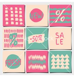 Sales and shopping tags abstract designs set vector - by dolcevita on VectorStock®