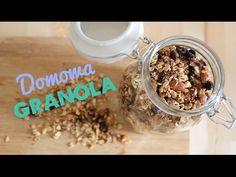 Domowa granola - YouTube Granola, Cereal, Oatmeal, Sugar, Breakfast, Sweet, Recipes, Food, Youtube