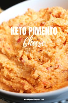 KETO Pimento Cheese that is just as good as any you have ever had...my dad says it is as good as the Master's Pimento Cheese...that means it is REALLY, REALLY good!! . #pimento #pimentocheese #snack #dip #sparklesnsprouts #keto #ketogirl #ketolife