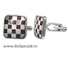Square Stainless Steel Checker Board Cufflinks Inlaid With Wood Men's Jewellery Urban Male, Swarovski, Checker Board, Stainless Steel, Mens Fashion, Men's Jewellery, Jewelry, Men's Cufflinks, Nardo