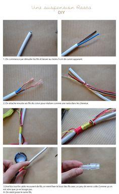 ROSE ET VERT: DIY une ampoule suspendue
