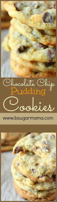 Chocolate Chip Pudding Cookies: Taking Chocolate Chip Cookies to a new level! #chocolatechipcookie