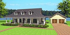 Southern House Plan chp-40696 at COOLhouseplans.com