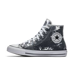 Converse Chuck Taylor All Star Sequins High Top Women s Shoe Size 11  (Silver) b55bacf6a