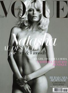 November 2011 Vogue Spain Cover Model: Natasha Poly