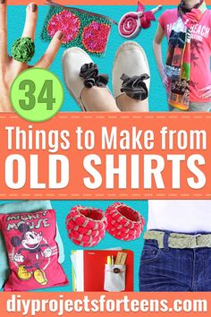17bcbc8d1ea 34 Things to Make From Old T-shirts
