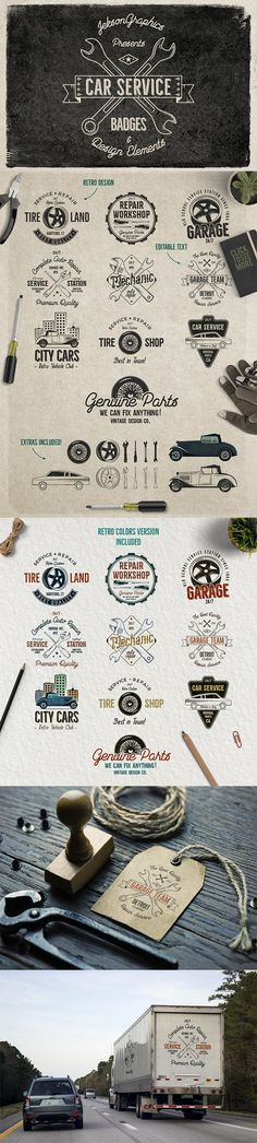 Access All Areas members have a great new set of design resources to download this week, courtesy of Evgen Radchenko from JeksonGraphics. These 10 badge style logo designs are made with a car service and repair workshop theme. They're totally editable so you can customise the designs to suit your own projects, plus each graphic …