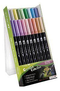 Amazon.com : Tombow Dual Brush Pen ABT-18C-5 pastels : Office Products