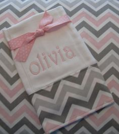 Chevron Burp Cloth  Personalized Monogrammed  Boutique on Etsy, $10.95