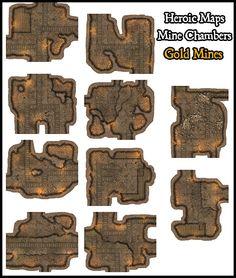 Heroic Maps - Modular Kit: Mine Chambers - Heroic Maps | Caverns & Tunnels | Dungeons | Wilderness | Modular Kits | DriveThruRPG.com