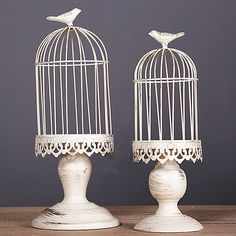 Cheap candle lanterns for wedding, Buy Quality wedding pillar candle directly from China candle wholesaler Suppliers:1 set of 2 Metal birdcage vintage iron antique white home decorative wedding  bird cage decoration, Card Holder, cage fo