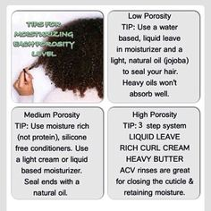 Hair care Ideas : There is a check for hair porosity, see naturallycurly website. Natural Hair Care Tips, Natural Hair Regimen, Natural Hair Growth, Natural Hair Journey, Natural Hair Styles, Natural Haircare, Low Porosity Hair Products, Hair Porosity, Pelo Natural