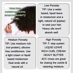 Tips for moisturising each porosity level hair - not sure what my porosity level is!