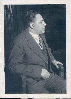 1931 Photo Murder Victim Johnny Genero Slain Gangster Car Business Man Crime
