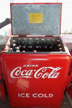 We Used Reach Down In The Coke Cooler Filled With Ice To Fish Out A Practically Frozen Bottle Of Cola On Hot Day