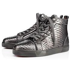 2ea43103e6d5 CHRISTIAN LOUBOUTIN Louis Orlato Flat Anthracite Python - Men Shoes - Christian  Louboutin.  christianlouboutin