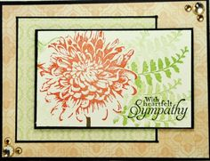 Here's the card from Becky's gallery that was my inspiration:http://www.splitcoaststampers.com/gallery/photo/2396748?&cat=500&ppuser=345499 I loved the little flowers she made for her card.  I used her colors for the flowers but changed the layout and stamp set.  I stamped the flower then masked it so I could stamp repeatedly without reinking for the ferns.  I used black paper behind the image but used a black marker and ruler to draw a black line around the other two rectangles.  I colored…