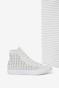 Converse All Star High-Top Suede Sneaker - Woven Gray - Sneakers Grey Converse, Converse All Star, Converse Shoes, Grey Shoes, Cute Shoes, Me Too Shoes, Sneaker Games, Peep Toe, Suede Sneakers