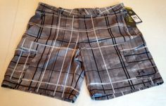 Under Armour Gray Shorts Mens Size 42 Loose Fish Hunt Cargo Heatgear Casual NWT #UnderArmour #CasualShorts
