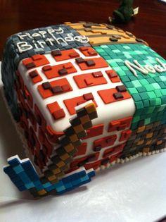 Sara Turben's amazing Minecraft cake for Noah's 15th birthday!