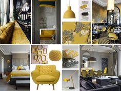 Yellow and Grey #yellow #grey #interior #modern
