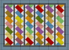 French Braid Needlepoint Pattern and Instructions