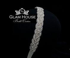 Bridal crystal headband - beaded wedding headpiece. $70.00, via Etsy.
