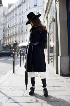 hats on. Paris. #TheSartorialist