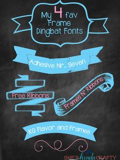 She's {kinda} Crafty: My Favorite Frame Dingbats | Free Fonts