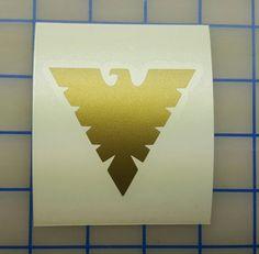 Marvel X-Men - solide Phoenix-Symbol-Aufkleber - 16 Farben - mehrere Größen