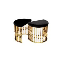 RITA, modern stool that transcends design and jewelry. An amazing combination this black and gold stool. Gold Furniture, Design Furniture, Luxury Furniture, Modern Furniture, Bathroom Furniture, Bathroom Interior, Modern Stools, Modern Table, Modern Bench