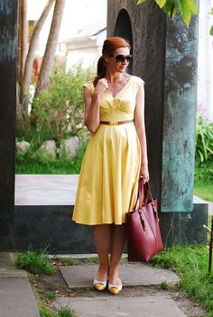 Vintage-style yellow dress | Not Dressed As Lamb