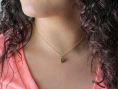 Honey Bee Necklace Honey Bee Jewelry Bee Necklace by LeCharmerie, $21.50