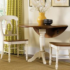 Make a round drop-leaf table