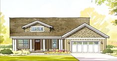 Plan 970049VC: Craftsman Ranch With Sun Room And Finished Lower Level