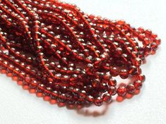 Garnet Beads Garnet Faceted Rondelle Beads Red by gemsforjewels