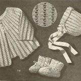 *Multiple Free Crochet Baby Sets for Infants Simple Easy Vintage Baby Set Patterns