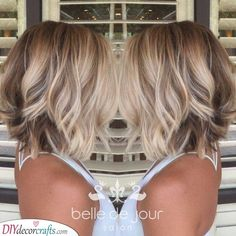 Light Makeup Love the variation of colors/from dark browns to very light blonde in front. Love the variation of colors/from dark browns to very light blonde in front. Blonde In Front, Bob Haircuts For Women, Haircuts For Thin Hair, Popular Haircuts, Great Hair, Hair Hacks, Hair Lengths, New Hair, Hair Inspiration