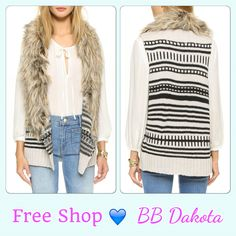 Layers Love at Free Shop!! Shop Fun Vests and Sweaters from BB Dakota and Jack!!