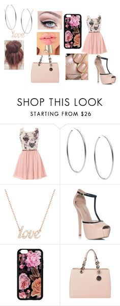 """""""going to my frind"""" by gold-sarah ❤ liked on Polyvore featuring Michael Kors, Swarovski, Zoya, JustFab and MICHAEL Michael Kors"""