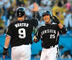 Matt Murton and Takahiro Arai (Hanshin Tigers)