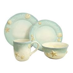 Image result for beach dishes dinnerware